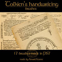 Tolkien's handwriting brushes by AmarieVeanne