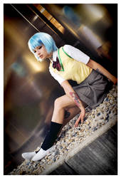 Eva/NGE: Ayanami Rei ~ school uniform by elsch