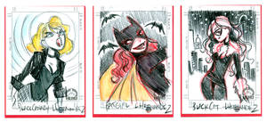 Sketchcards: Marvel, DC Gals 2 by DivaLea