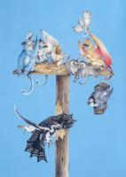 Dragonbird feeder top by Hbruton