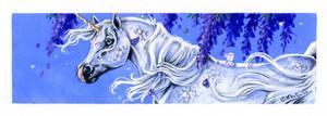 Unicorn book mark by Hbruton