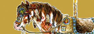 Carousel Bookmarks:Indian Pony by Hbruton
