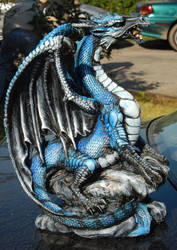 Bluejay dragon statue by Hbruton