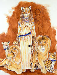 Lady of Cats by Hbruton