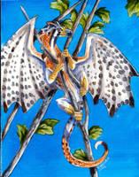 kestrel Bird Dragon by Hbruton