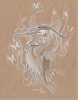 Ghost Heron by Hbruton