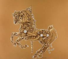 Clockwork carousel horse by Hbruton