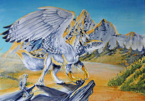 Golden Light Gryphon by Hbruton