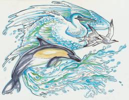 Water Phoenix Colour by Hbruton