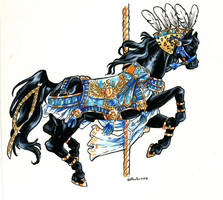Egyptian Carouel Horse by Hbruton