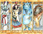 Gods Bookmarks Set 3 by Hbruton