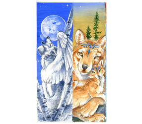 Fantasy Wolves Bookmark Seta by Hbruton