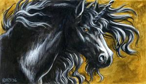 Black unicorn magnet by Hbruton