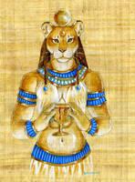 Papyrus Sekhmet by Hbruton
