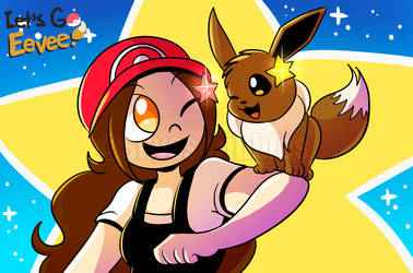 Let's Go, Eevee! by Rainbow-Skybird