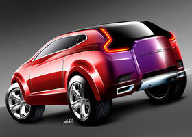 cyclone suv coupe rear view by carlexdesign