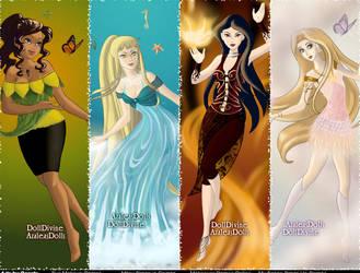 Total Drama Girls Elements by Gidget456