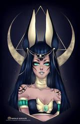 Goddess Anubis by Namiedraws