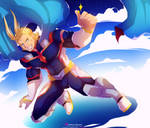 All Might - Young Age by Namiedraws