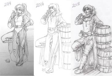 Evolution of Donna by Hyacinthley