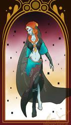 Art Nouveau Midna by hiddenwriterspirit