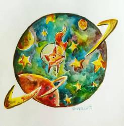 Space fox by LinkzaurousRAW