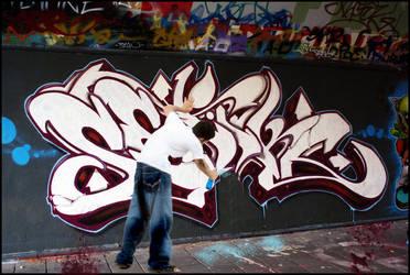 paintin on wall by saadabd2211