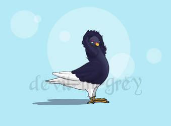 Lady Pigeon Study by devil-in-grey