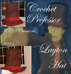 Crochet Professor Layton Hat by Zero23