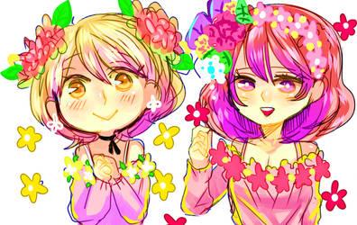 Hanayo And Maki ! by KinoAzusa