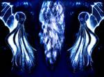 Cthulhu wallpaper - blue by Niedziak
