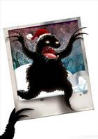 Santa Monster by dimpoart