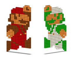 8-Bit Mario and Luigi by JoeCoool