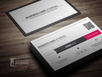 Metro Style Business Card Template With QR Code by mengloong