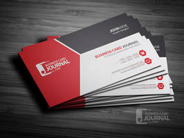 Free Modern Tricolor Business Card Template by mengloong