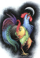 Rainbow Rooster by vashley