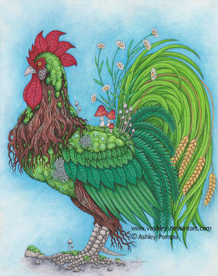 Spring Rooster by vashley