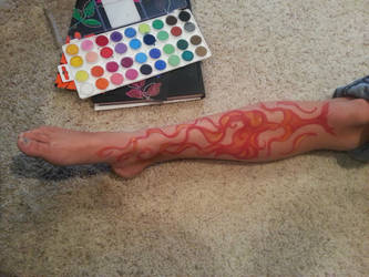 Leg paint by greydreamwanderer
