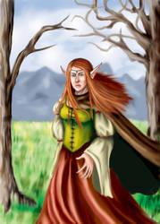 Elf in Forest by Elvnprincess