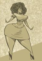 Gold girl by BillyNunez
