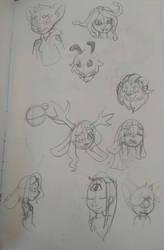 Random Sketches #16 by Blazemacska