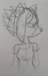 Hedgehog Zenyka sketch by Blazemacska