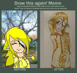 Draw this again! meme (2014 vs 2018) by Blazemacska