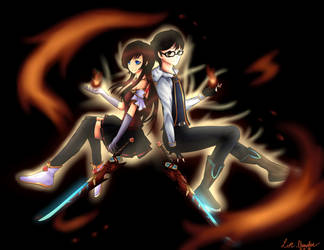Lizz and Ruko- Shining Duo by LizzIkanaka