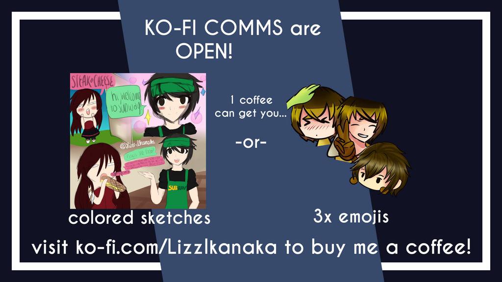 Ko Fi Commission Info by LizzIkanaka