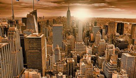 Manhattan Skyline by montag451