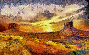 Van Gogh's Monument Valley by montag451