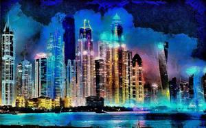 Dubai Cityscape by montag451