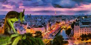 Paris Cityscape by montag451