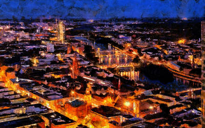 Frankfurt Cityscape Revisited by montag451